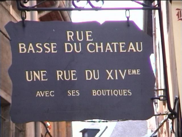 Rue Basse du Château à Chambéry