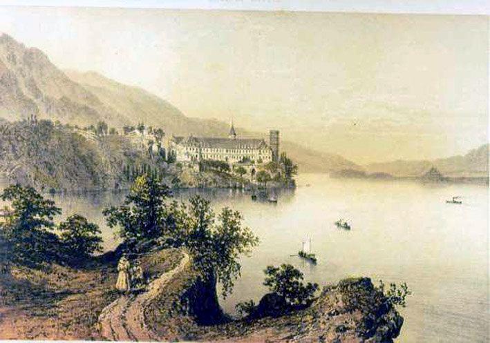 Abbaye de Hautecombe au bord du lac du Bourget