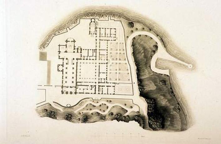 Abbaye de Hautecombe - plan de 1844.