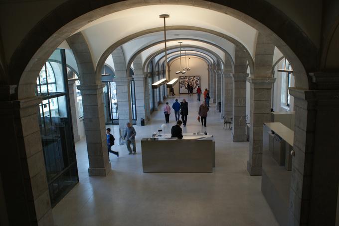 Hall du musée des Beaux Arts de Chambéry