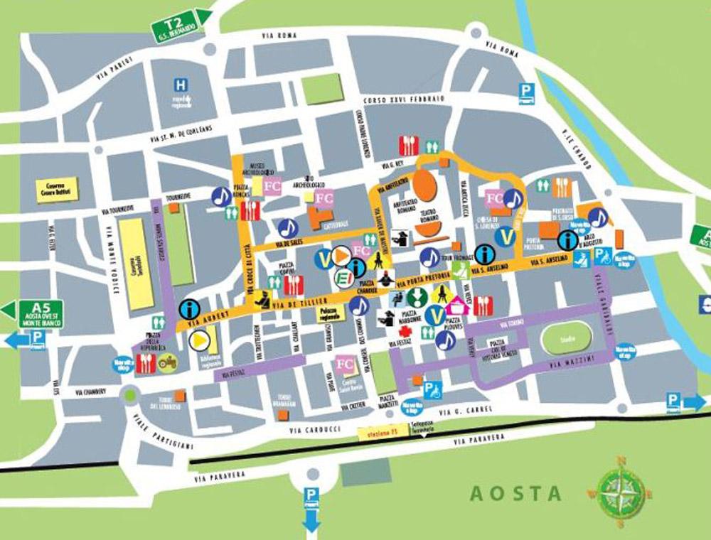 Plan Foire de la Saint-Ours à Aosta