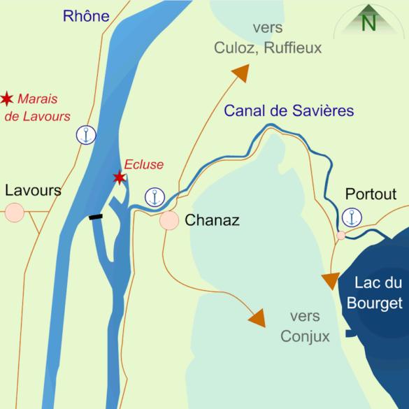 Carte Chanaz et Chautagne