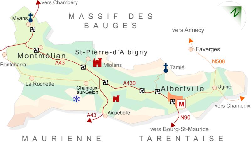 Carte Combe de Savoie