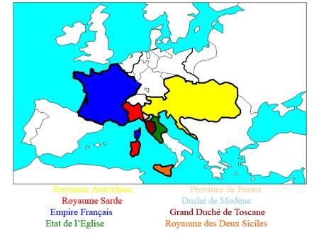 Carte de l'Europe en 1815
