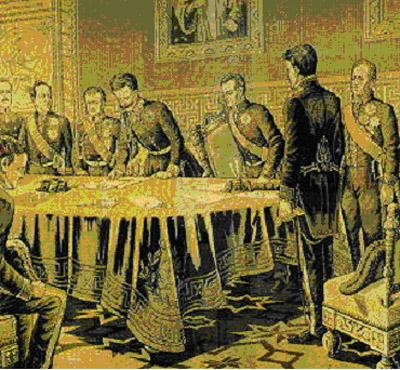 Charles-Albert signe le Statuto le 4 Mars 1848