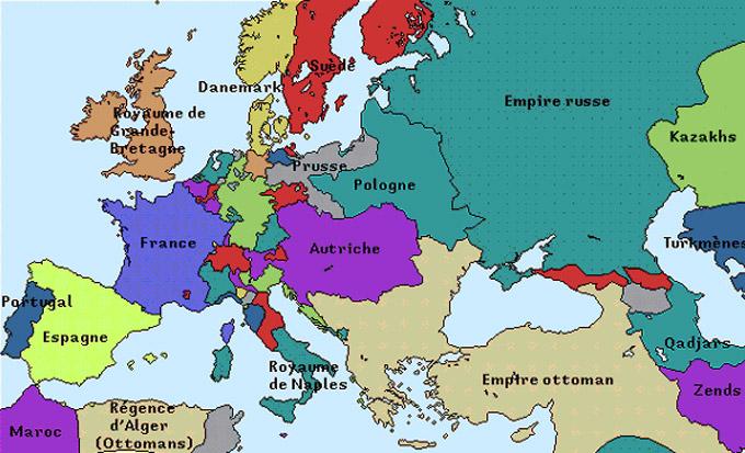 Retour aux frontières de l'Europe de 1790