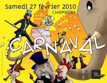 Affiche carnaval Chambéry 2010