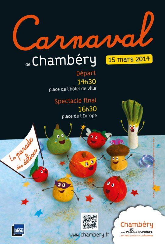 Affiche carnaval Chambéry 2014