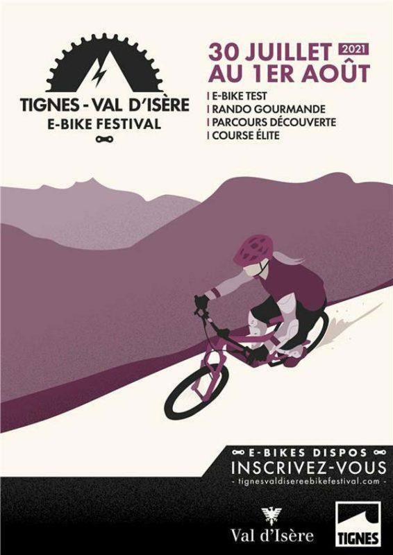 Affiche L'E-Bike World Tour fait étape à Tignes et Val d'Isère