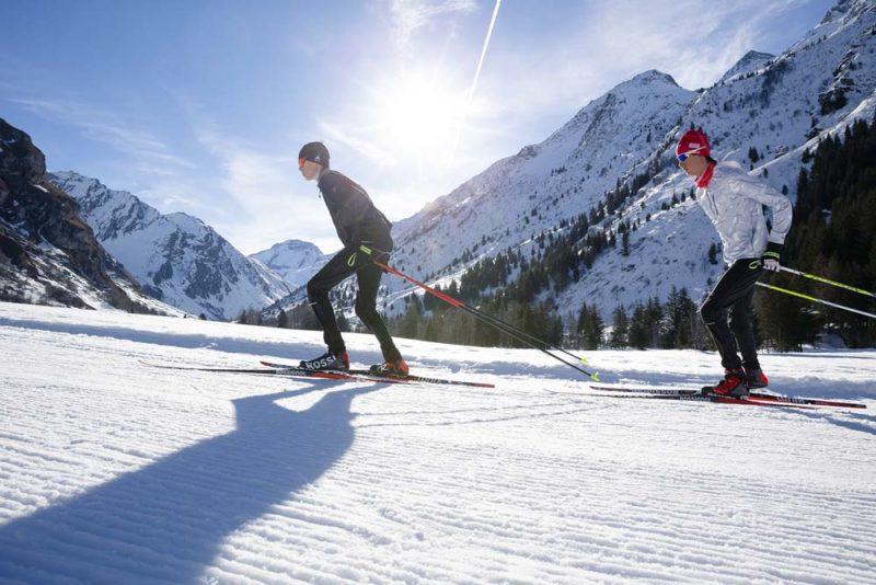 Chrono national de ski de fond à Champagny-en-Vanoise