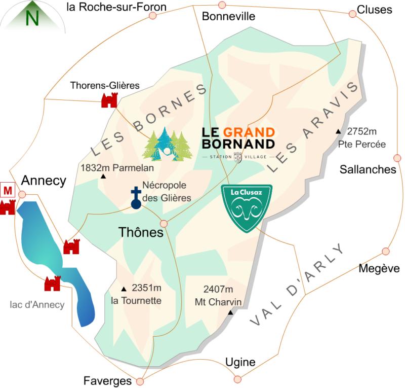 Carte Massif des Bornes-Aravis